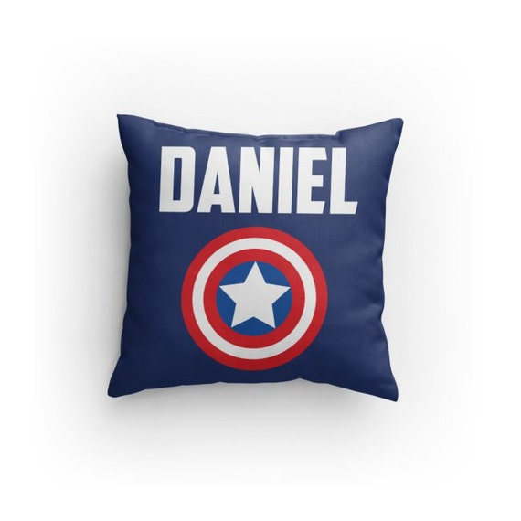 Captain America Inspired Pillow Personalize with Name    3a0acc05591