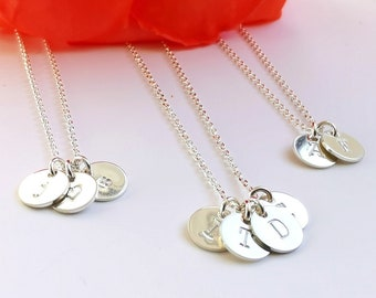 Initial Necklace, Sterling Silver - Dainty Layering Charm Necklace - Gift for Her - Gift for New Mom - Personalized Jewelry