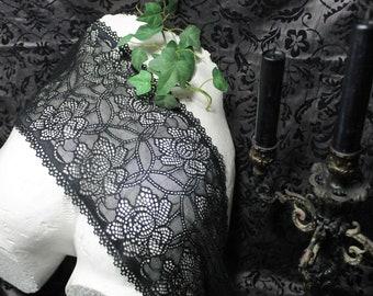 lace, black Lace, elastique lace, lace ribbon