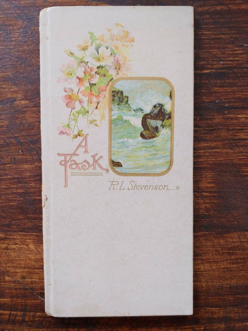 Antique Poetry Book A Task By R.L. Stevenson 1910 image 0