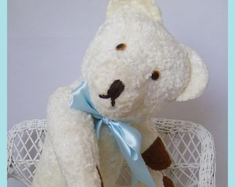 Lovely vintage White teddy bear 50cm - 19.7""