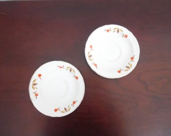 Autumn Leaf China Ruffled Saucers