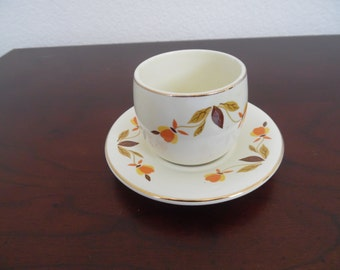 Autumn Leaf China Mustard with Underplate