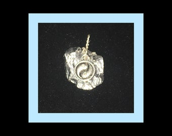 Genuine Silver Ore Chunk Pendant -  (For Healing, Power, Protection) OOAK!  Wire Wrapped in the USA.