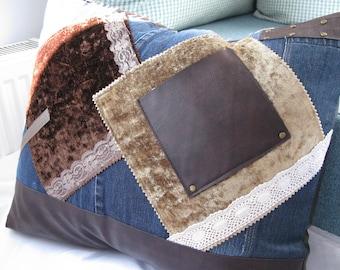Country chic pillow case/boho pillow case/boho home decor/ country home decor
