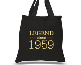 60th Birthday Tote Legend Since 1959 Bag Idea Present 60 Gift For Her