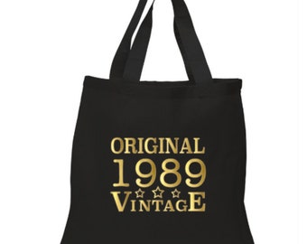 30th Birthday Gift Bag Idea Present 1989 Tote 30 For Her