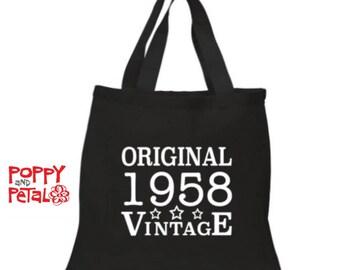 60th Birthday Gift Bag Idea Present For Grandma 1958 Tote 60 Her