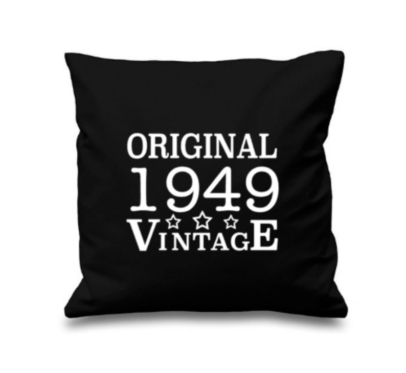 70th Birthday Pillow 1949 Gift
