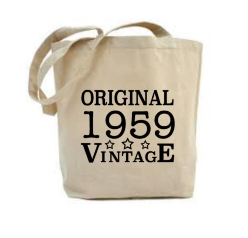 60th Birthday Gift 60th Birthday Tote Bag 1959 Gift Gift