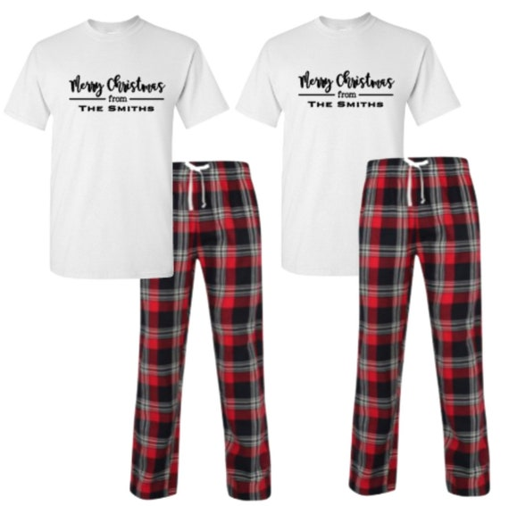 Personalized Matching Pyjamas Christmas Pajamas Couple Etsy