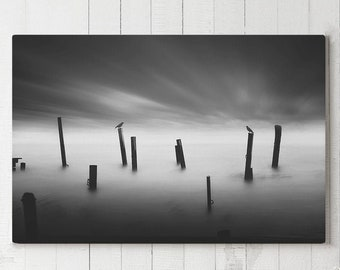 Social Distancing Canvas Art, modern black and white canvas art, large ready to hang living room art, artistic canvas print, thoughtful art