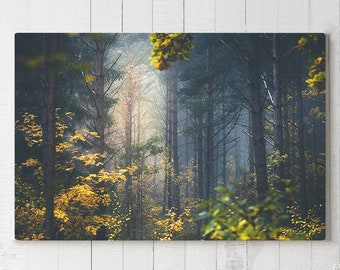 Beautiful Forest Canvas Art, large colorful wall decor, modern and dreamy canvas art, ready to hang tranquil art, trees canvas print