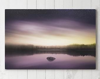 Magical Lake Canvas Art, dreamy wall decor, colorful modern canvas art, ready to hang nature art, landscape canvas print, original photo art