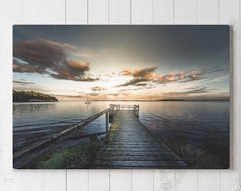 Sailing Canvas Art, nautical wall decor, modern ocean canvas art, ready to hang nature art, sailboat canvas print, tranquil scenery art