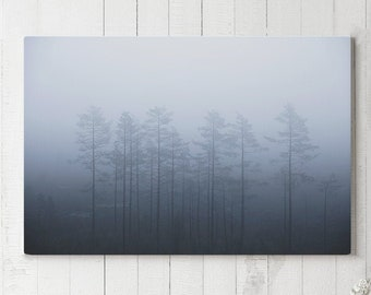 Minimalist Canvas Art, trees wall decor, modern canvas art, ready to hang forest art, serene canvas print, large canvas print