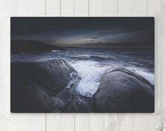 Crashing Wave Canvas Art, ocean wall art and wall decor, ready to hang art, modern home decor making a statement.