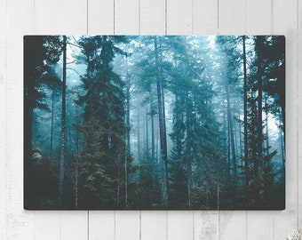 Modern Canvas Art, forest wall art and wall decor, ready to hang gallery wrap canvas, modern home decor making a statement.