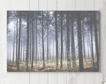 Faded Forest Canvas Art, vintage wall decor, modern canvas art, ready to hang nature art, rustic canvas print, trees home decor