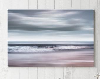 Coastal Canvas Art, modern nautical canvas print, large ocean wall decor, ready to hang art, beach art canvas