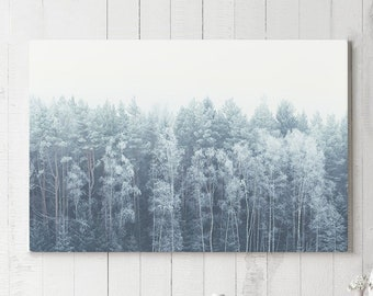 Minimalist Canvas Art, ready to hang wall art, large forest wall decor, modern home decor making a statement.