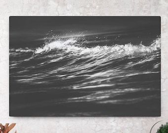 Ocean Wave Canvas Art, nautical wall art and wall decor, ready to hang gallery wrap canvas, modern home decor making a statement.