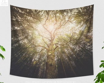 Large Tree Tapestry, magical nature tapestry, large wall decor, dorm and bedroom and boho living room decor making a statement.