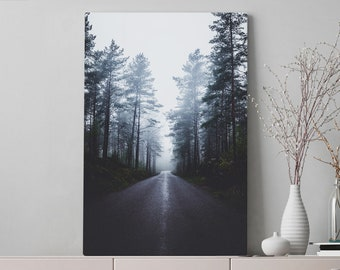 Enchanted Forest Canvas Art, nature wall art and wall decor, ready to hang gallery wrap canvas, wanderlust home decor.