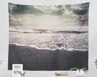 Ocean Art Tapestry, nature wall tapestry, large wall decor and wall art making a unique dorm and bedroom and living room decor statement.