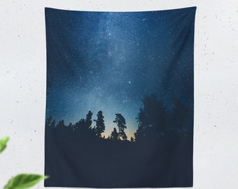 Starry Tapestry, wanderlust dorm wall tapestry, large bedroom wall hanging, nature adventure living room wall decor adn wall art