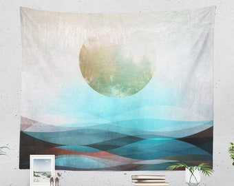 Spiritual Art Wall Tapestry, boho wall hanging, large abstract living wall decor, zen dorm decor, boho bedroom wall art