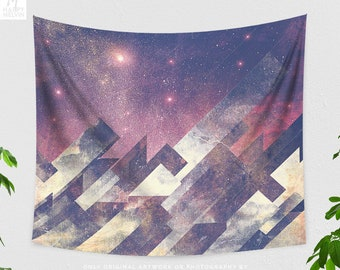 Space Art Tapestry, trippy tapestry, dorm and bedroom wall hanging, boho living room wall decor and wall art