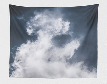 Dreamy Cloud Wall Tapestry, large tranquil dorm wall hanging, spiritual and serene bedroom wall decor, boho living room decor