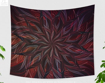 Mandala Tapestry, bohemian tapestry, dorm and bedroom and boho living room decor making a spiritual & chic statement.