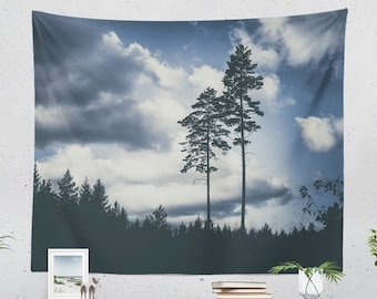 Wanderlust Scenery Tapestry, nature tapestry, large wall art, dorm and bedroom decor and boho living room decor making a statement.