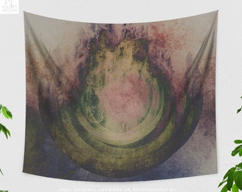 Spiritual Wall Tapestry, large zen wall art, dorm and bedroom decor and boho living room decor making a spiritual statement.