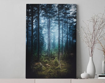 Enchanted Forest Canvas Art, nature wall art and wall decor, ready to hang canvas, home decor making a statement.