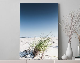Beach Living Room Canvas Art, beach house and bedroom wall art and wall decor, ready to hang summer office wall hanging