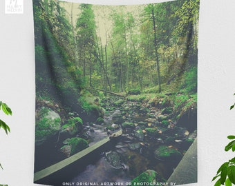 Tall Wanderlust Tapestry, nature tapestry, large wall art, dorm tapestry,  bedroom tapestry making a statement. Dorm decor.