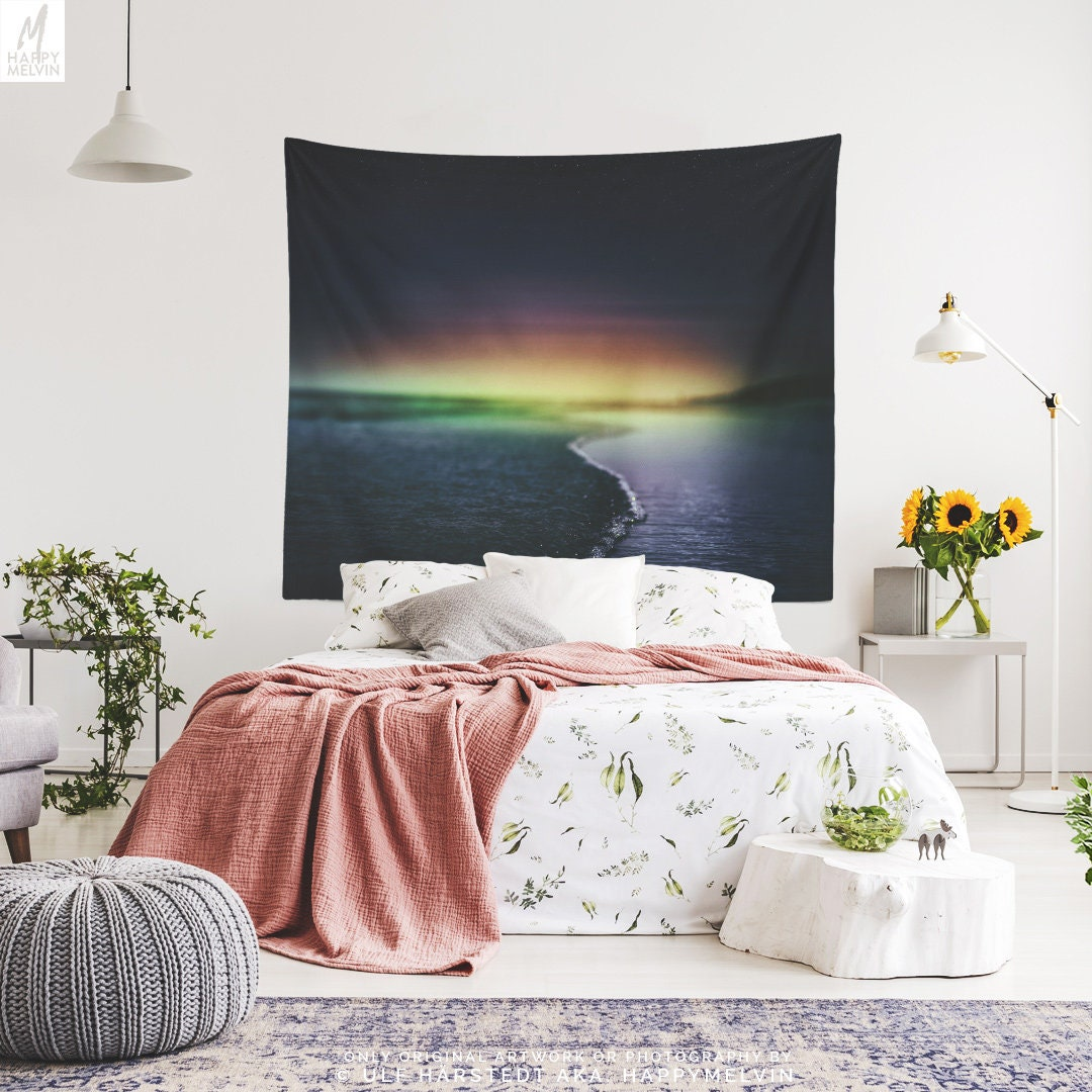 Magical Sunset Tapestry Beach Wall Tapestry Large Ocean Wall Decor And Wall Art Colorful Dorm Room And Bedroom Wall Hanging