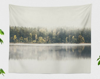 Minimalist Wall Tapestry, dorm nature tapestry, large wanderlust living room wall hanging, tranquil scenery bedroom art