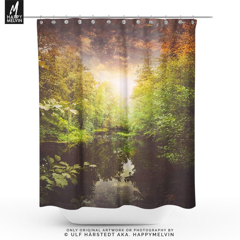 Vibrant Shower Curtain Nature Boho Bathroom Decor Unique Bath Sunshine Gifts Indie