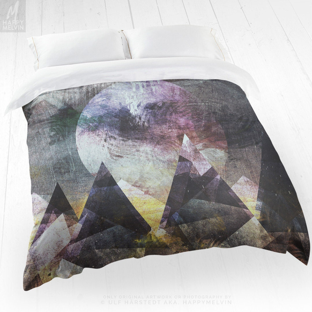 Mountain Duvet Cover Abstract Art Bed Linen And Bedding Artsy