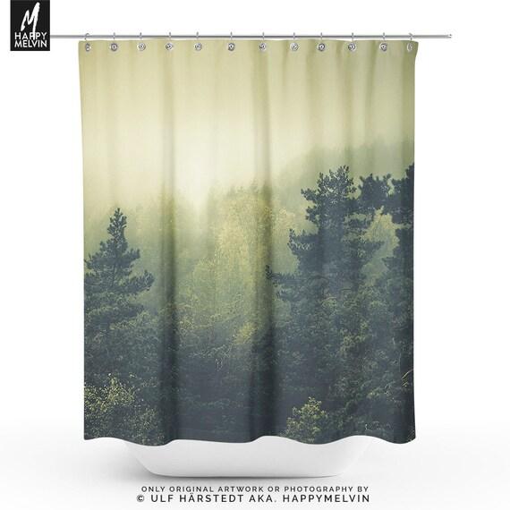 Magical Forest Shower Curtain Nature Bathroom Boho