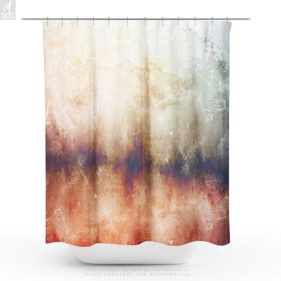 Artsy Shower Curtain Abstract Bathroom Boho