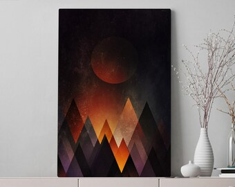 Mountains Canvas Art, abstract living room wall art and wall decor, ready to hang bedroom canvas art, modern office wall hanging