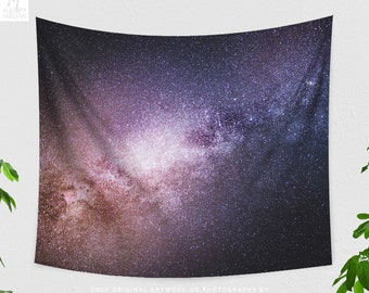 Space Tapestry, milky way wall tapestry, large starry night wall art and living room decor making a statement. dorm and bedroom decor.