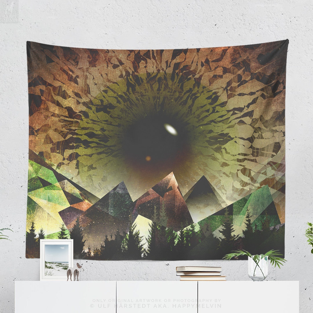 . Artsy Nature Tapestry  abstract wall art  trippy dorm decor making a