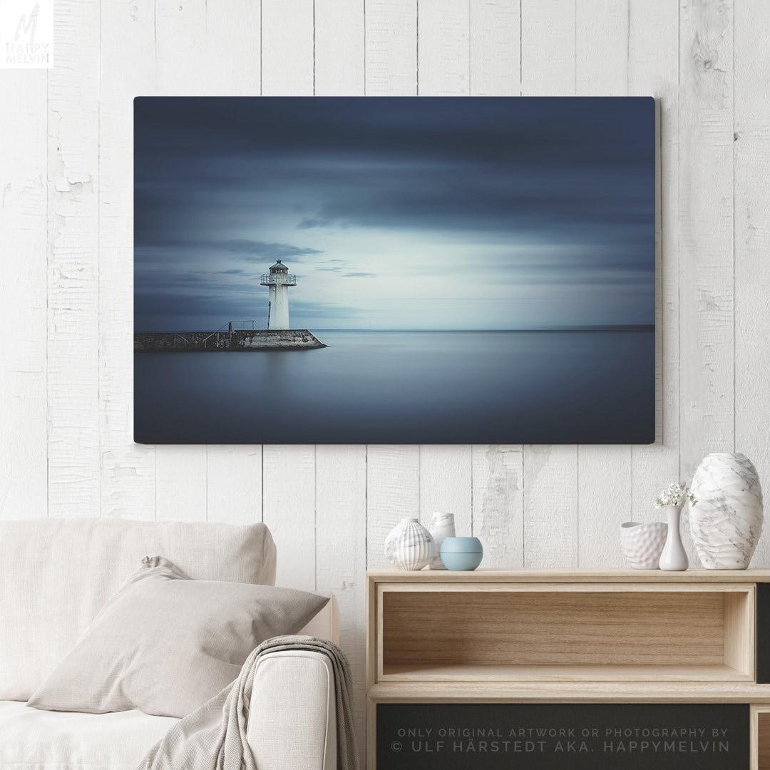 Nautical Canvas Art, large living room wall decor, minimalist ...