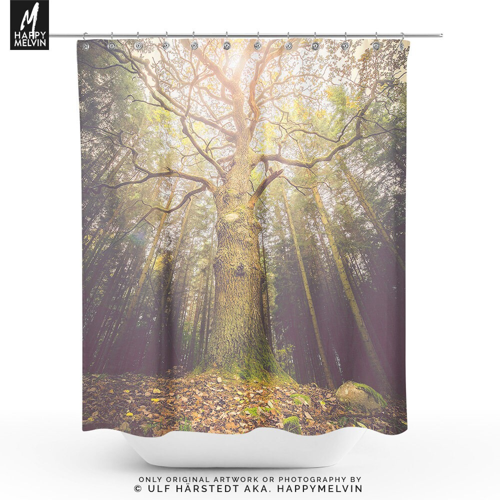 Magical Tree Shower Curtain A Nature Bathroom Decor Making Unique Statement In Your Home Made The USA